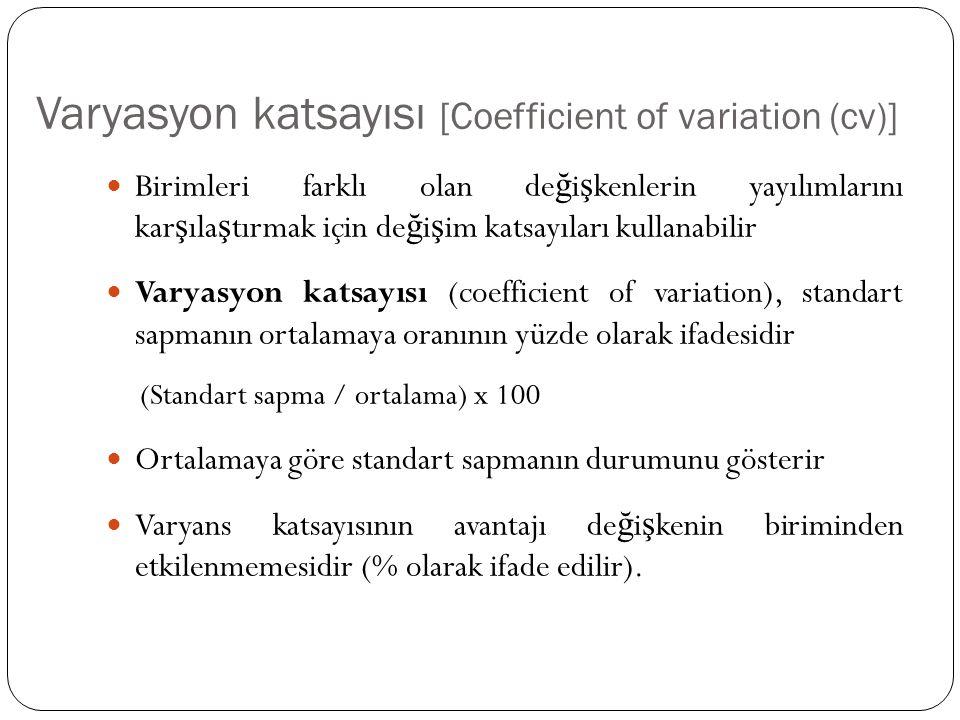Varyasyon katsayısı [Coefficient of variation (cv)]